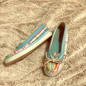 Multi-colored Sperry's women's size 6.5